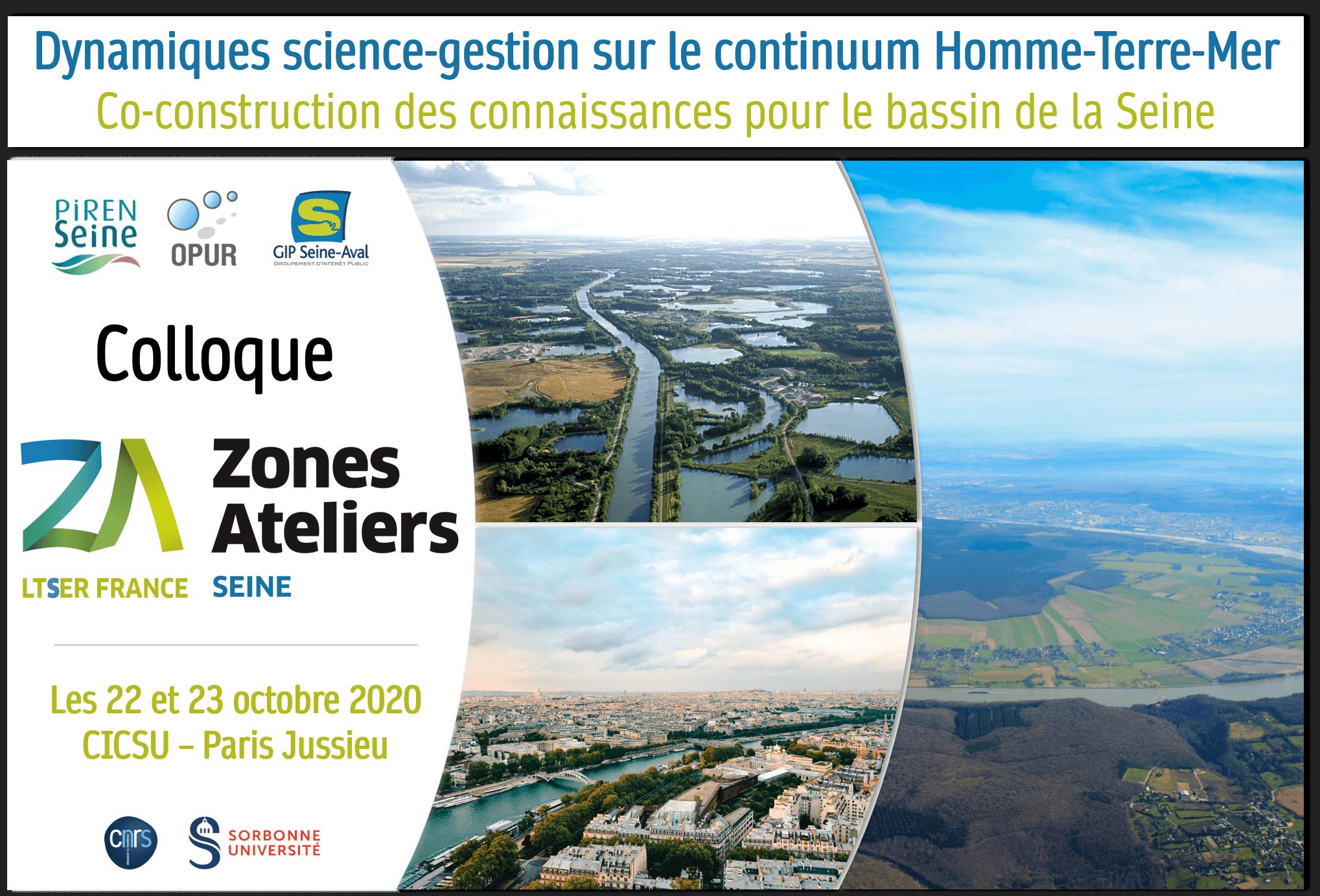 Colloque de la ZA-Seine, 22 et 23 octobre 2020